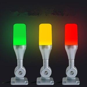 Image 2 - 10 unids/lote lámpara de advertencia Led de una capa Tricolor 24V alarma torre de señal Luz de precaución para máquinas CNC Indicador de luz de seguridad de fallo