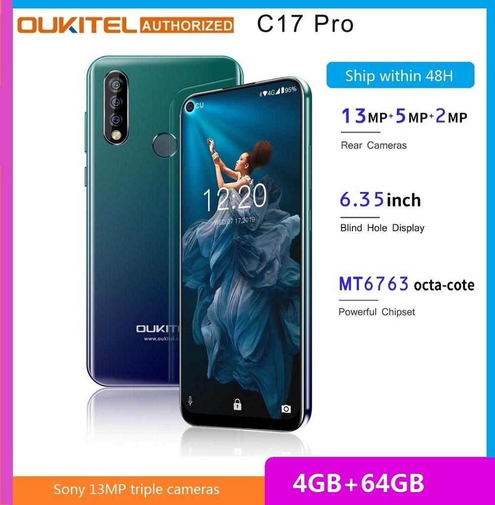 OUKITEL C17 Pro 6.35-inch 4G Smartphone MTK6763 Cortex A53 2.0GHz 4GB RAM 64GB ROM Triple Rear Cameras Mobile Phone