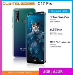 OUKITEL C17 Pro смартфон с 6,35-дюймовым дисплеем, процессором MTK6763, ОЗУ 4 Гб, ПЗУ 64 ГБ, 2,0 ГГц
