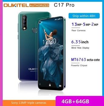 Перейти на Алиэкспресс и купить OUKITEL C17 Pro смартфон с 6,35-дюймовым дисплеем, процессором MTK6763, ОЗУ 4 Гб, ПЗУ 64 ГБ, 2,0 ГГц