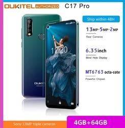 Перейти на Алиэкспресс и купить oukitel c17 pro 6.35-inch 4g smartphone mtk6763 cortex a53 2.0ghz 4gb ram 64gb rom triple rear cameras mobile phone