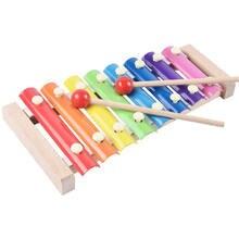Бесплатная доставка Детские деревянные ксилофонная музыка игрушка