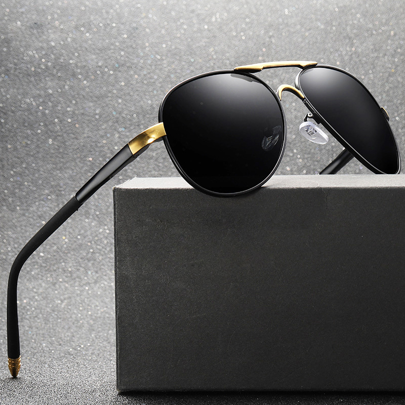 Aluminium Polarized UV400 men Sunglasses brand male driving Sun Glasses men driving eyewear gafas de sol shades with box