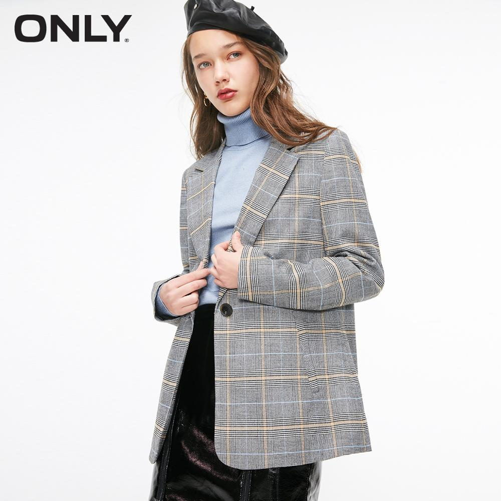 ONLY Women's Straight Fit One-button Blazer | 119108503