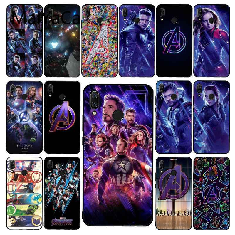 Maiyaca Avengers Endgame Truyện Tranh Marvel Ốp Lưng Điện Thoại Xiaomi Redmi4X 6A 9 8A Note 9 Pro 5Plus Note4 Note5 7 Note6Pro 8T