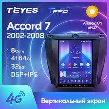 TEYES TPRO pour Honda Accord 7 CM UC CL 2002 - 2008 pour Tesla style écran autoradio multimédia lecteur vidéo Navigation GPS Android non 2din 2 dvd