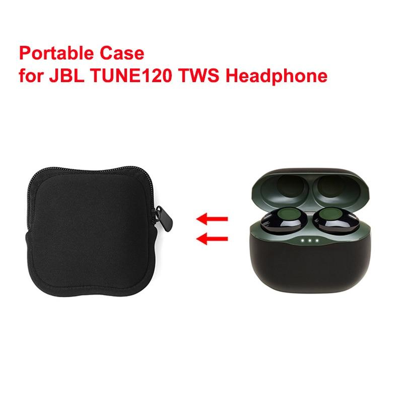 Soft Pouch Bag For Jbl Tune 120 Tws Bluetooth Headphone Portable Mini Earbuds Bag 95x95x50mm Earphone Accessories Aliexpress