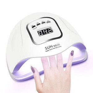 УФ-лампа для маникюра 80 Вт, 45 светодиодов, Сушилка для ногтей с датчиком движения, ЖК-дисплей для быстрого отверждения, УФ-гель для ногтей
