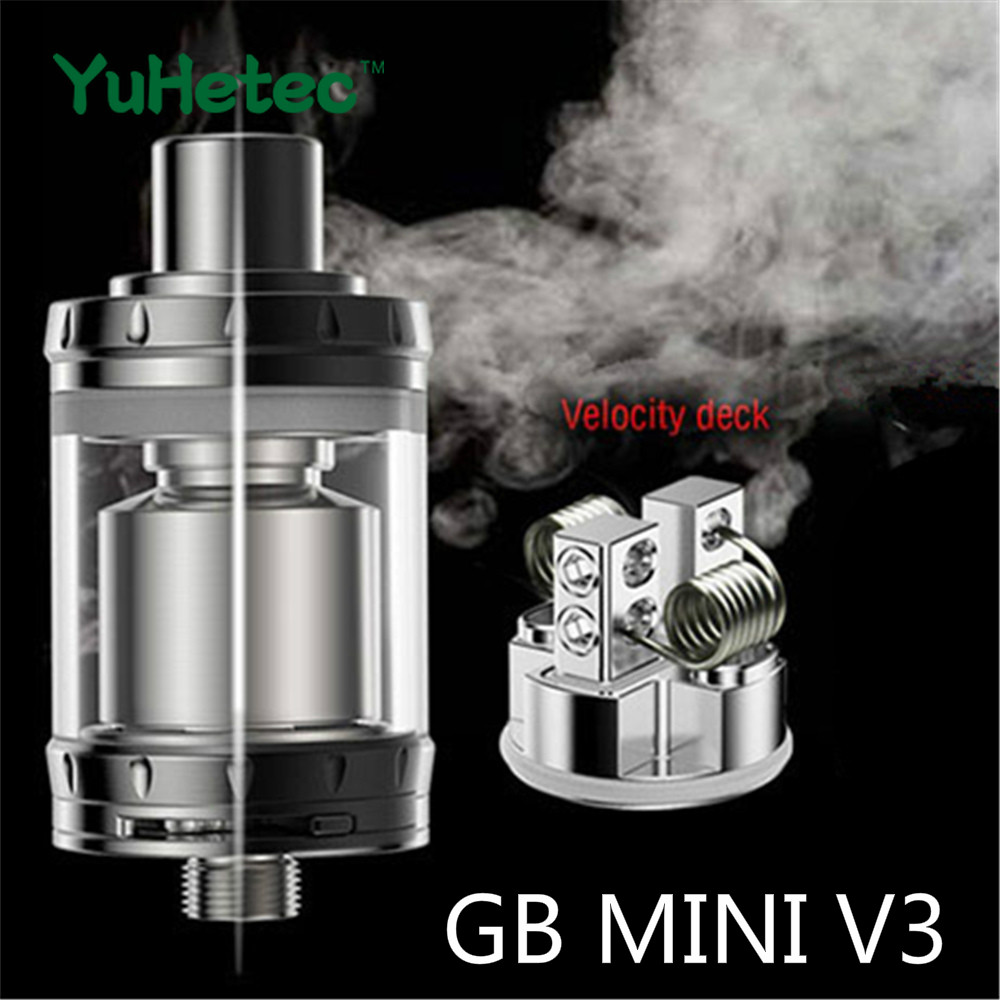 Authentic YUHETEC GB Mini V3/Goblin Mini V3 RTA Rebuildable Tank Velocity Deck DIY Atomizer 2ML Electronic Cigarette Atomizers