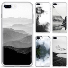 Phone Soft Cover For Samsung Galaxy J1 J2 J3 J4 J5 J6 J7 J8 Plus 2018 Prime 2015 2016 2017 mountain mist black and white design(China)