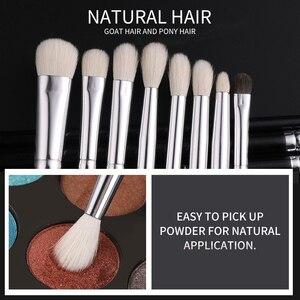 Image 4 - BEILI Black Premium Professional 22pcs Makeup Brushes Set Powder Foundation Goat hair Eyeshadow Blending Beauty Make up Brushes
