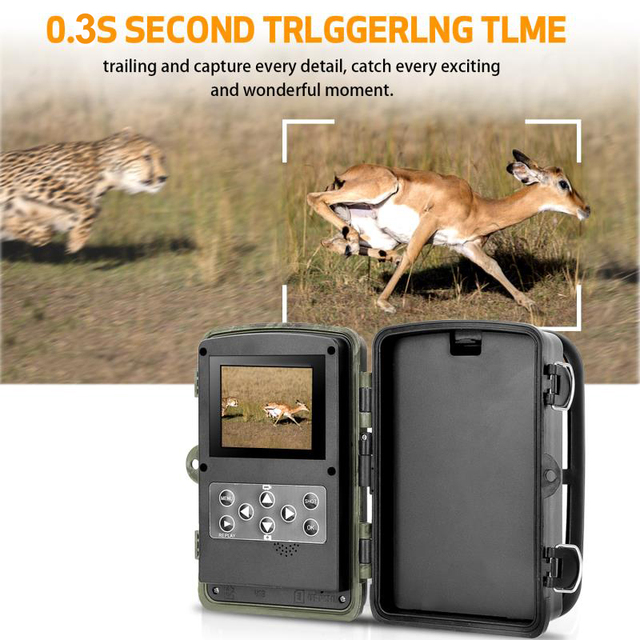 HC802A 16MP 1080P Wildlife Trail Camera Photo Trap Infrared Hunting Cameras Wildlife Wireless Surveillance Tracking Cams