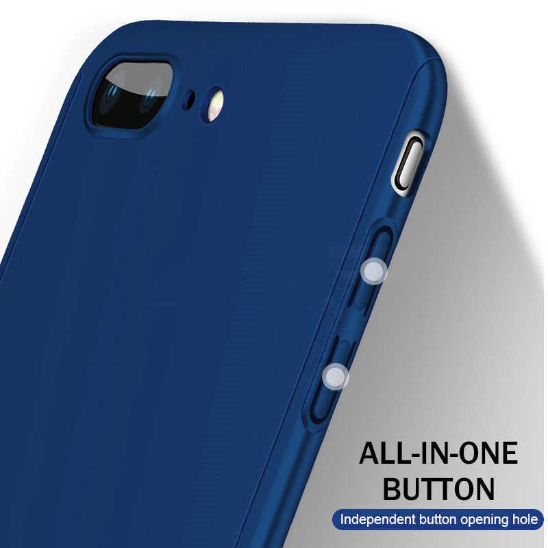 Luxury 360 Full Body ป้องกัน Case PC Hard สำหรับ iPhone 7 8 6 6S 6 Plus 5 5S SE XS MAX X XR สำหรับ iPhone 11 PRO MAX