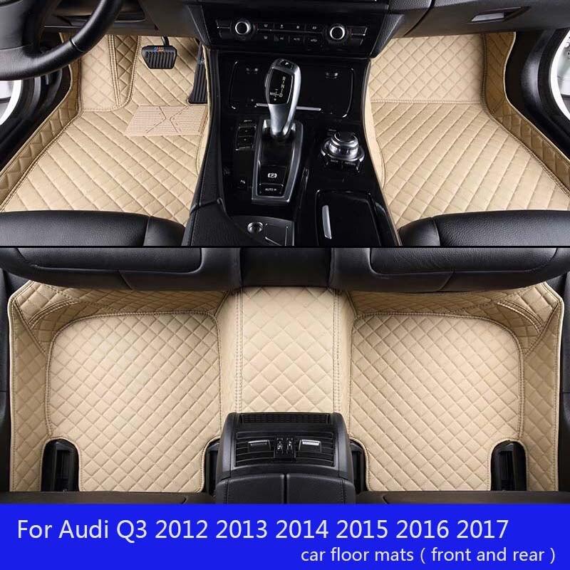 Shenlao Personnalisé tapis de sol de voiture Pour Audi Q3 2012 2013 2014 2015 2016 2017 étanche accessoires de voiture tapis de voiture