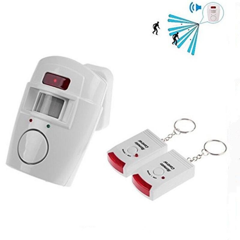Bezprzewodowy zdalnie sterowany Mini budzik z IR czujnik ruchu na podczerwień i 105dB głośna syrena dla bezpieczeństwo w domu Anti-Theft