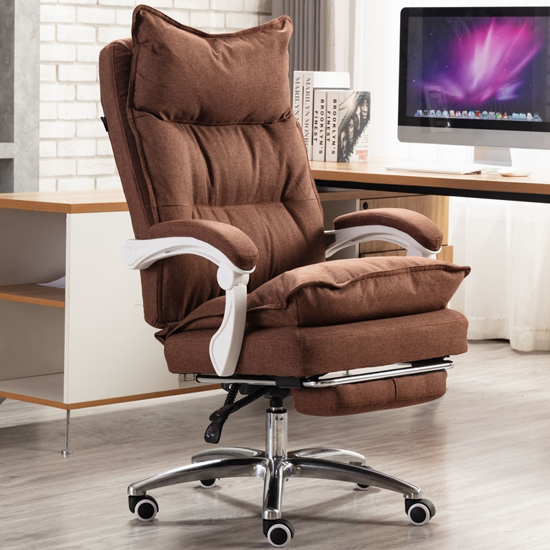 Cotton Fabric Office Computer Chair Lying And Lifting Staff Armchair With Footrest Chair Office Executive Vanity Gaming Chairs