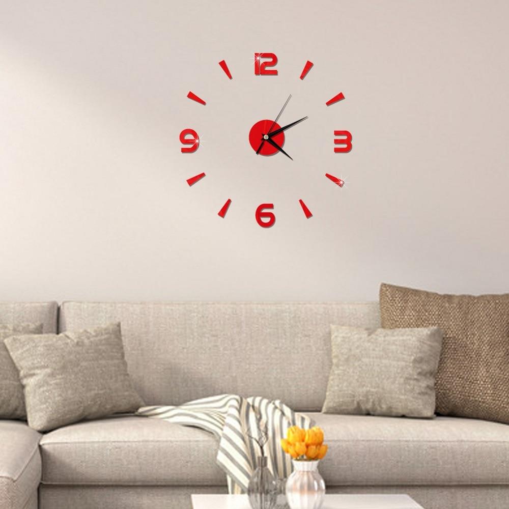 2019 New 3D Wall Clock Mirror Wall Stickers Fashion Living Room Quartz Watch DIY Home Decoration Clocks Sticker reloj de pared 21