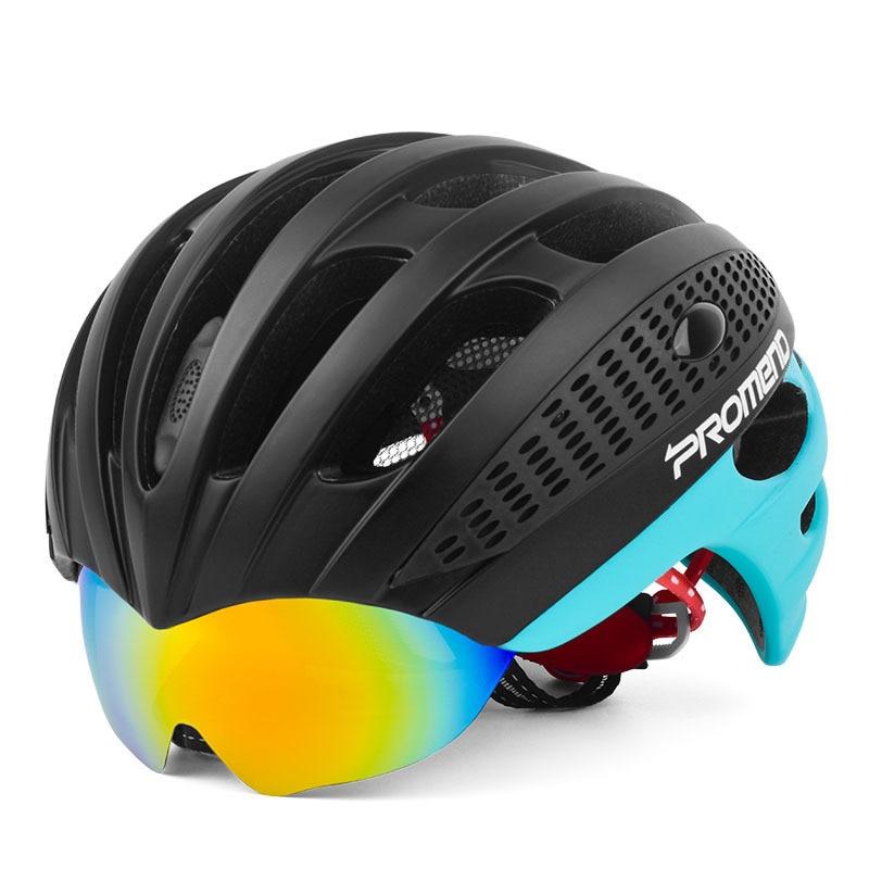 Pro Мужчины d горный велосипед езда шлем цельные очки легкий шлем дорожный велосипед мужчины и женщины очки