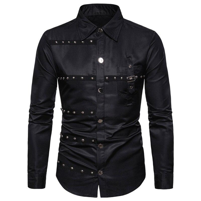 Koszula Męska US SIZE 1 Sztuka Fashion New Long Sleeve Shirts Men,Korean Slim Design,Cotton Casual Male Dress Shirts,Summer Autumn Shirts For man US