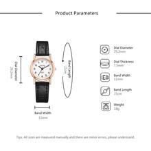 Small Dial Fashion Quartz Watch Vintage Leather