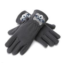 Детские Зимние перчатки для девочек и мальчиков, детский мультяшный медведь, одноцветные, горячая Распродажа, сохраняющие тепло, полный палец, перчатки, детские вязаные перчатки, Новинка