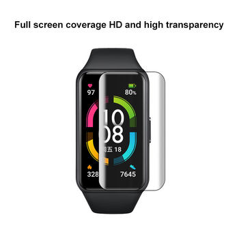 TPU Soft Hydrogel Protective Film For Honor Band 6 Screen Protector For Huawei Honor Bracelet Band 6 Strap ,not Tempered Glass 2