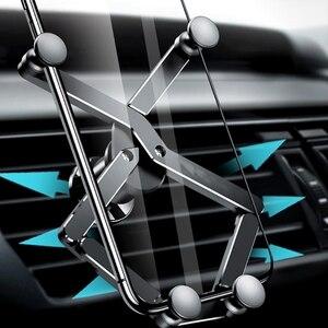 Image 2 - Mini yerçekimi araba telefon tutucu klip için cep cep telefonu araç tutucu standı 62KA