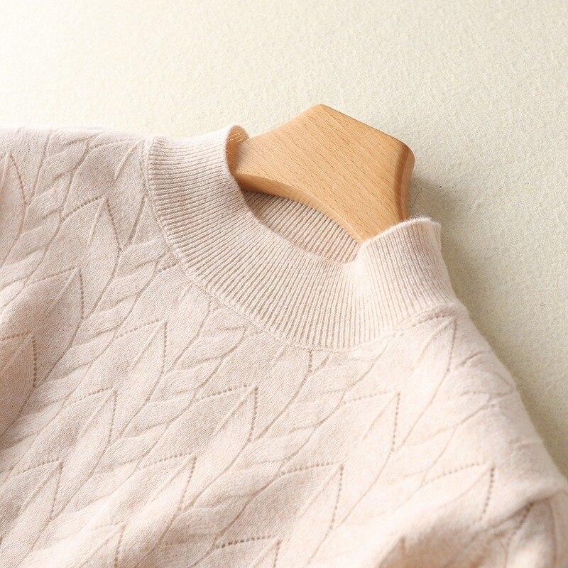Новинка полый шерстяной свитер с высоким воротником Женский