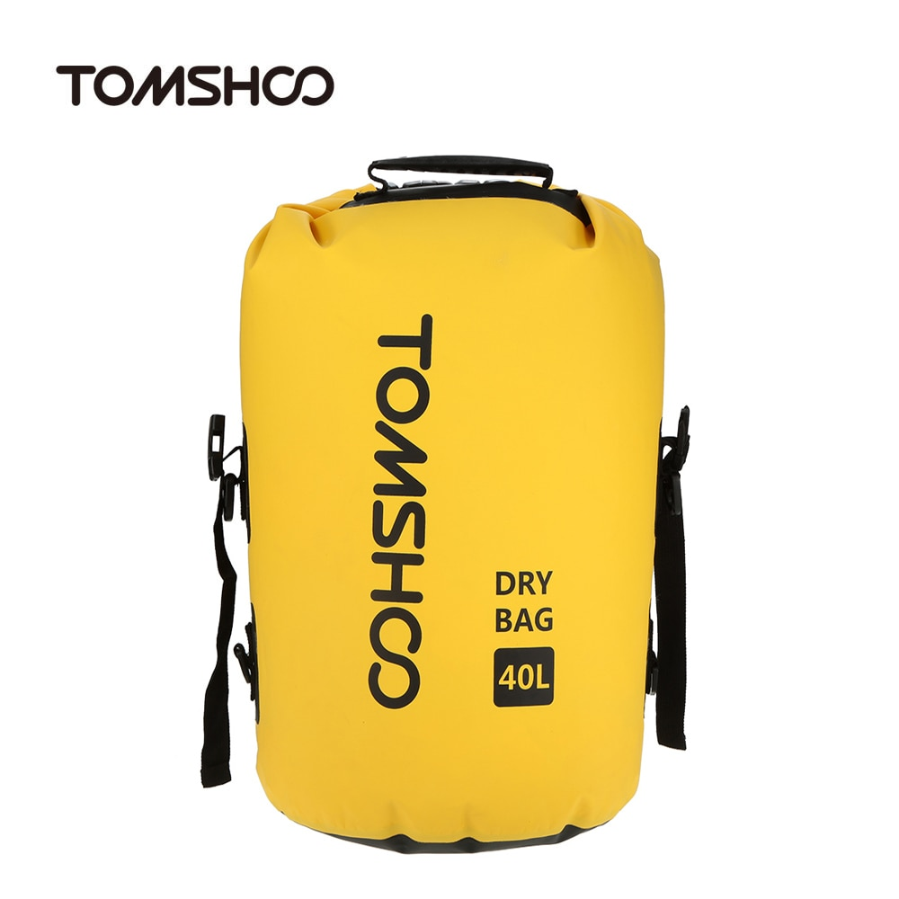 TOMSHOO 40L impermeable al aire libre bolsa seca bolsa de natación bolsa de almacenamiento de bolsa para viajar en Rafting Bolso de hombre TINYTA, bolso de hombro ligero para hombre, para 9,7 'pad 8 bolsillos, bolso cruzado Casual impermeable, bolsa de mensajero de lona negra, hombro