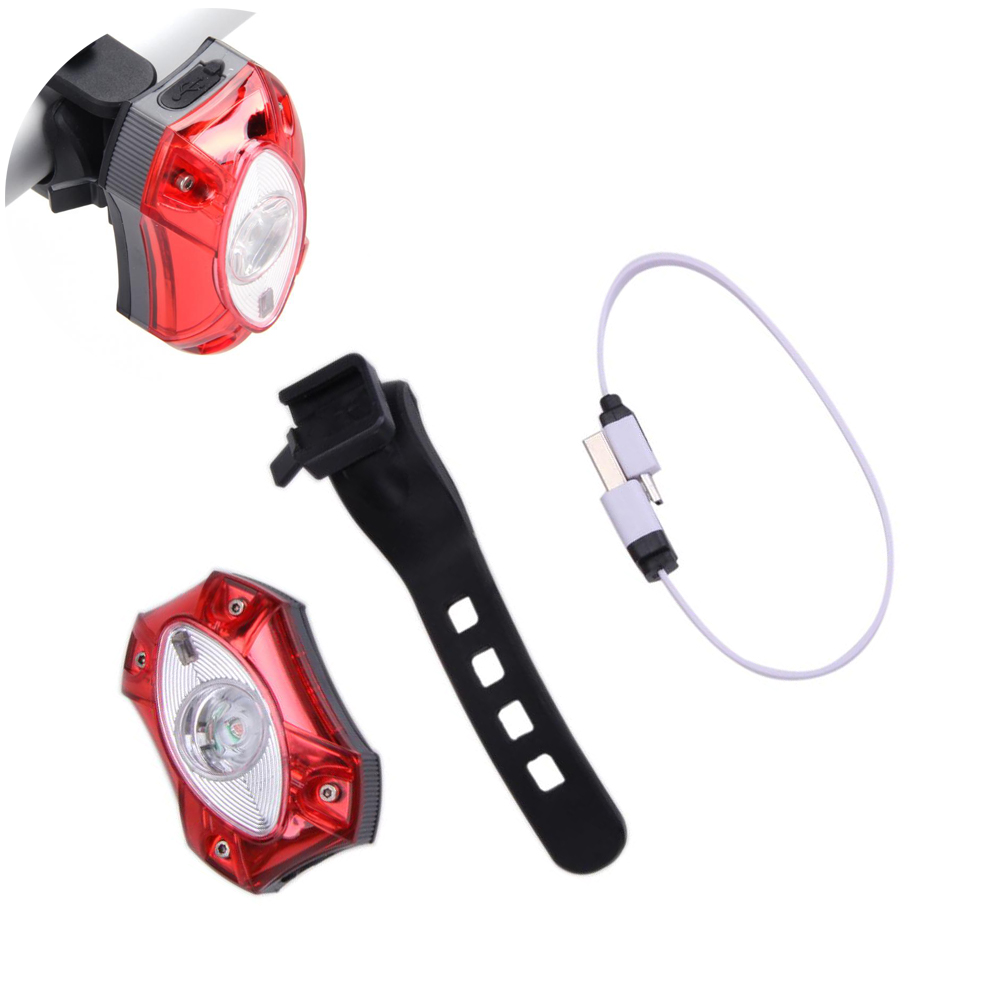 USB Rechargeable Rear Tail Bicycle Light Lamp Taillight Waterproof Raypal 3W LED Safety Cycling Bike Light Bicycle Accessories