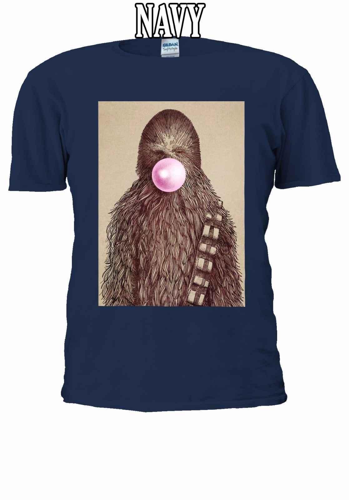 Star Wars Chewbacca Permen Karet T-shirt Rompi Pria Wanita Unisex 2618 Gratis Pengiriman Harajuku Atasan Fashion Classic Unik
