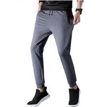 Casual Trousers Sweatpants Pockets Running-Pants Elastic-Waist Training Jogging Sports