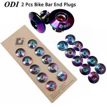 1 Pair Bicycle Handlebar Cover Bike Bar End Plugs aluminum alloy Colorful Plating Grip Anti-slip Firm Caps