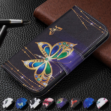 купить Butterfly Owl PU Leather Case For Huawei Honor 10i 10 Lite 8A 8C 7C 7X 6X 6C Cover Flip Stand Wallet Card Holder Fashion Fundas дешево