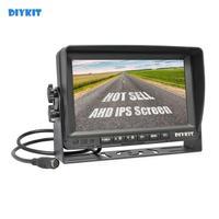 DIYKIT AHD 7inch IPS Car Monitor Rear View Monitor Support 1080P AHD Camera 2 x Video Input 12V 24V DC
