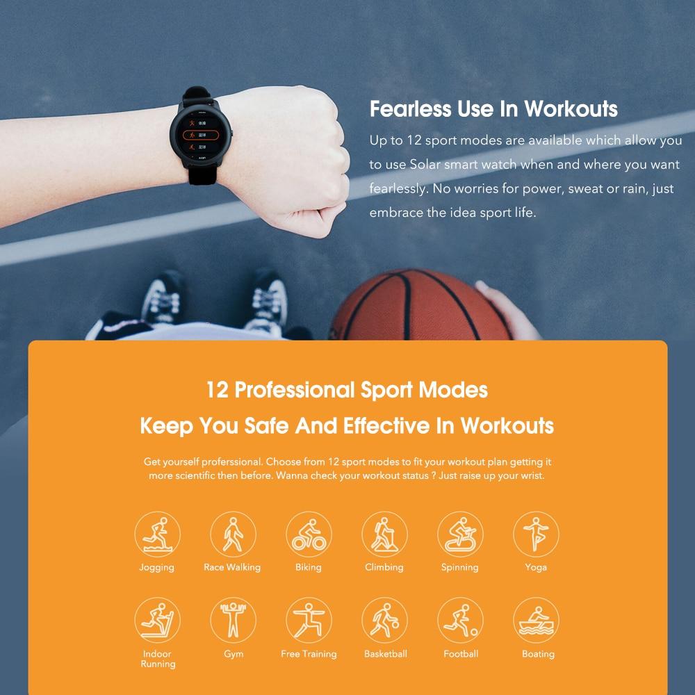 Xiaomi Haylou Solar Smart Watch Global Version IP68 Waterproof Sport fitness Bracelet LS05 Smartwatch Women Men For Android iOS 4