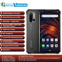 Ulefone armure 7 bande mondiale Mobile Pho RAM 8GB ROM 128GB NFC 5500mAh 48MP caméra Android 9.0 étanche 6.3 téléphone dempreintes digitales