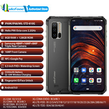 Ulefone zırh 7 küresel bant mobil Pho RAM 8GB ROM 128GB NFC 5500mAh 48MP kamera Android 9.0 su geçirmez 6.3 parmak izi telefon