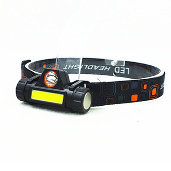 Portable Mini Powerful Led Headlamp Xpe+Cob Usb Rechargeable Headlight Built-in Battery Waterproof Head Torch