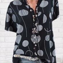 Fashion new polka dot shirt casual loose large size shirt wo
