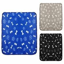 Милое Фланелевое флисовое теплое одеяло для домашних животных