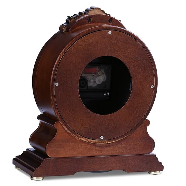 Horloge de bureau en bois massif haut de gamme de marque POWER mouvement à QUARTZ silencieux horloge de TABLE en cristal MASA SAATI SAAT