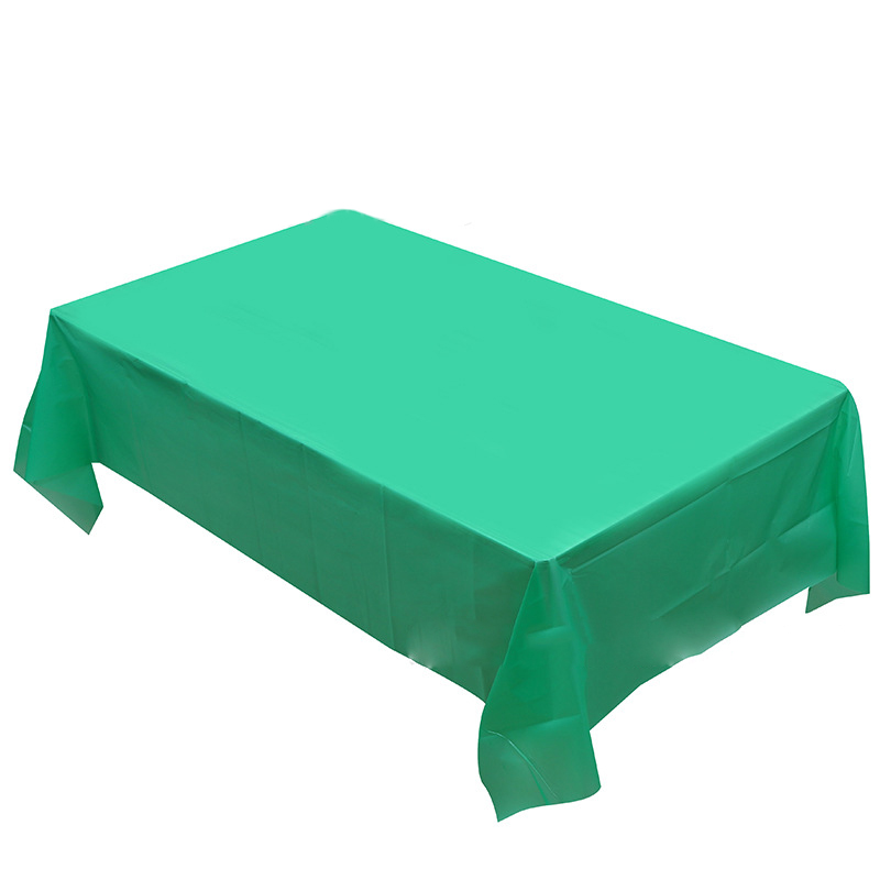 1pcs Dark Green Solid Table Cover Kids Girls Favors Wedding Party Decoration Tablecloth Happy Birthday Maps Events Supplies
