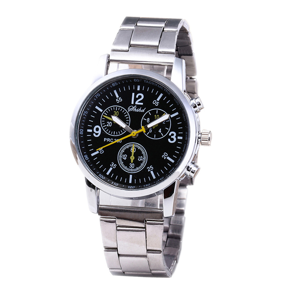 Men's Quartz Watch Fashion Neutral Quartz Analog Wristwatch Steel Band Watch שעון גברים Erkek Kol Saati Montre Homme