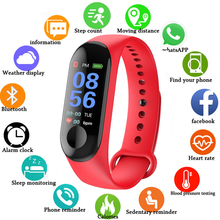 Fitness M3 Color Screen Smart Sport Bracelet Activity Running Tracker Heart Rate For Children Men Women Watch relogio digital