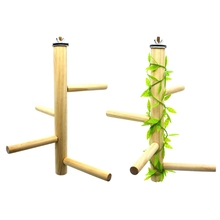 Toy Grinding-Stick Cockatiels Platform Bird Perch Wood-Stand Parrot Parakeets Paw Small