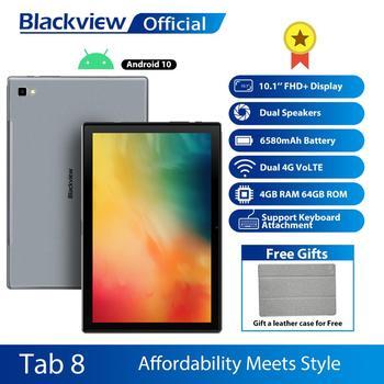 Blackview Tab 8 10.1 inch Android 10.0 Google Play 4G Phone Call Tablets 4GB RAM 64GB ROM 13.0MP Rear Camera 6580mAh Tablet PC