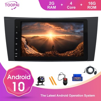 TOOPAI Android 10 For Mercedes Benz E Class W211 CLS Class W219 G-Class W463 W209 Auto Radio GPS Navi Multimedia Player SWC IPS image
