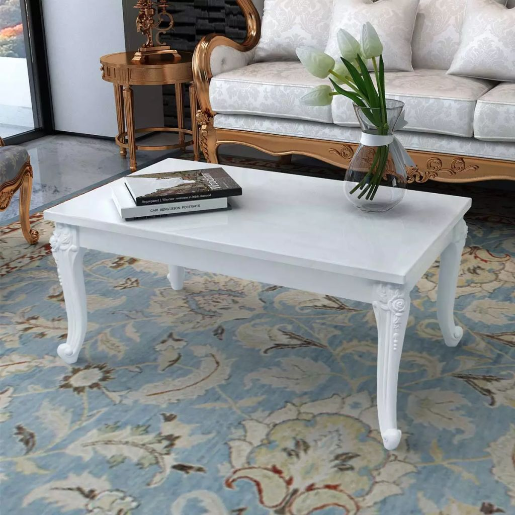 VidaXL Coffee Table 100x60x42 Cm High Gloss White