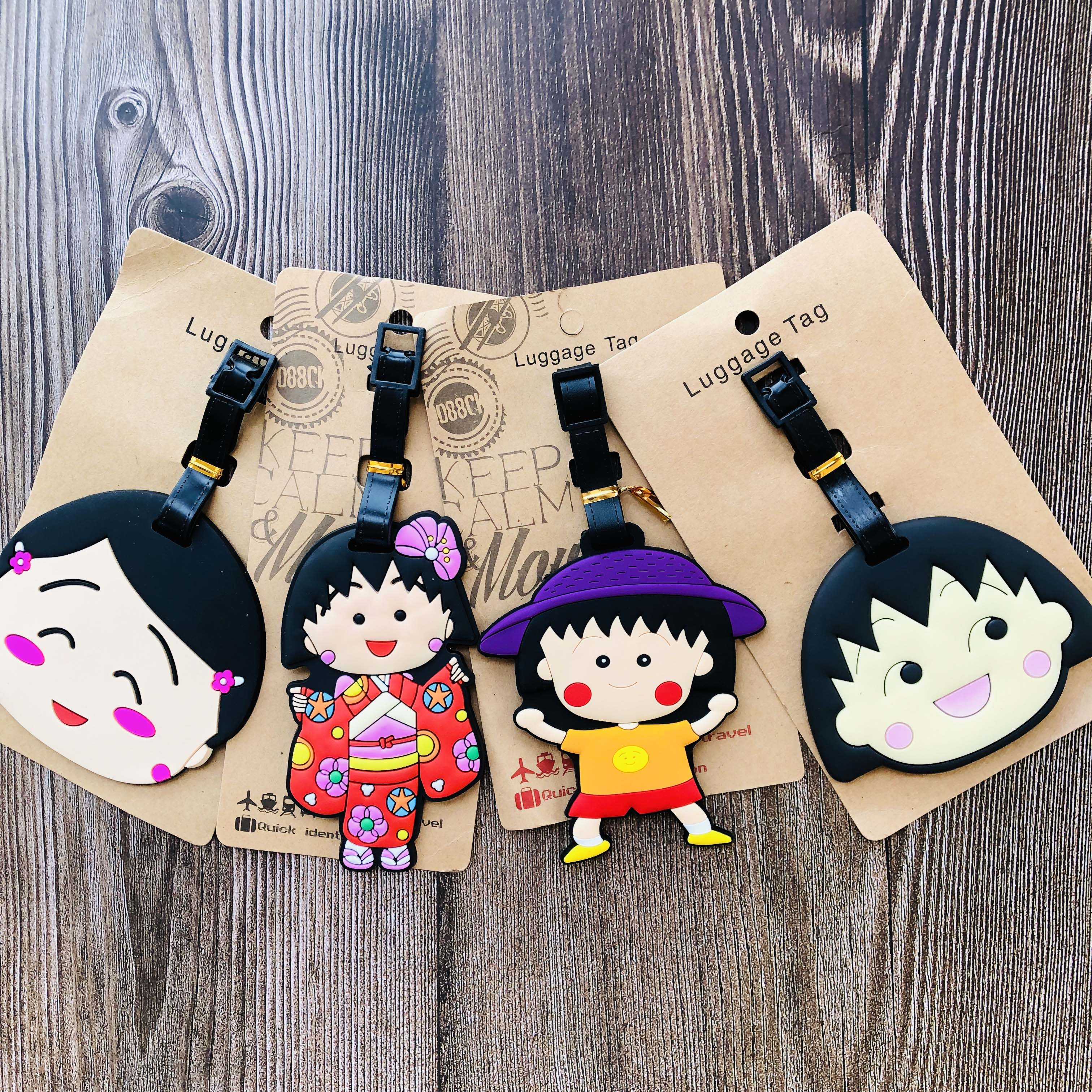 Chi-bi Maruko Style Anime Travel Accessories Luggage Tag Suitcase ID Portable Tags Holder Baggage Labels Gifts New